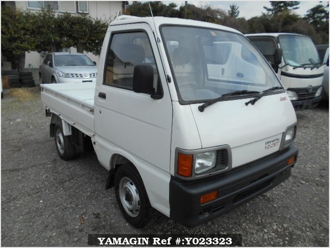 It is a picture of the white daihatsu hijet truck in 1993,Sub Photo 0 Stock No.Y023323