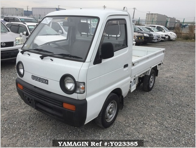 It is a picture of the white suzuki carry truck in 1994,Sub Photo 1 Stock No.Y023385
