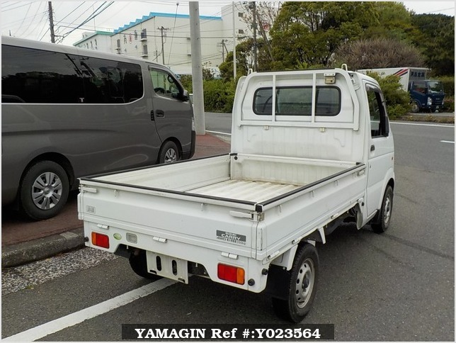 It is a picture of the white suzuki carry truck truck in 2006,Sub Photo 2 Stock No.Y023564