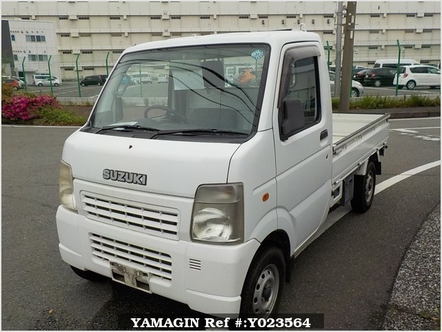 It is a picture of the white suzuki carry truck truck in 2006,Sub Photo 1 Stock No.Y023564