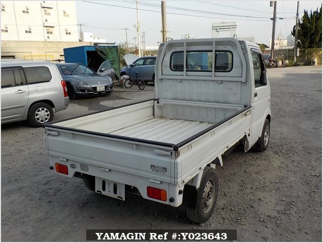 It is a picture of the white suzuki carry  truck in 2003,Sub Photo 2 Stock No.Y023643