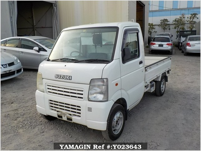 It is a picture of the white suzuki carry  truck in 2003,Sub Photo 1 Stock No.Y023643