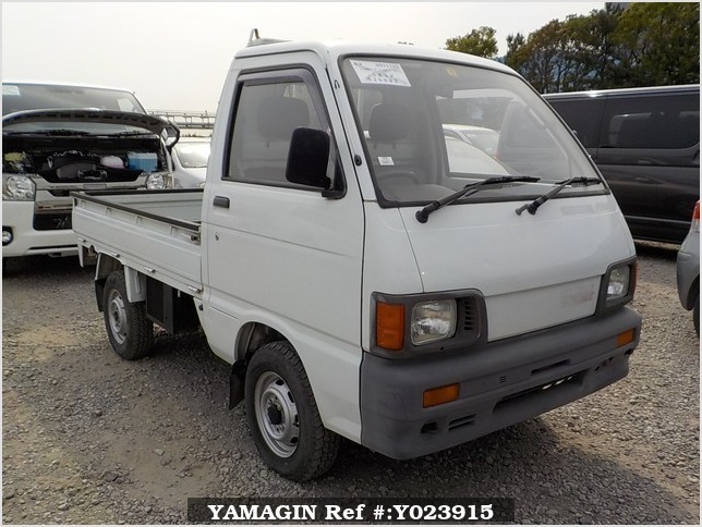 It is a picture of the white daihatsu hijet truck in 1991,Sub Photo 0 Stock No.Y023915