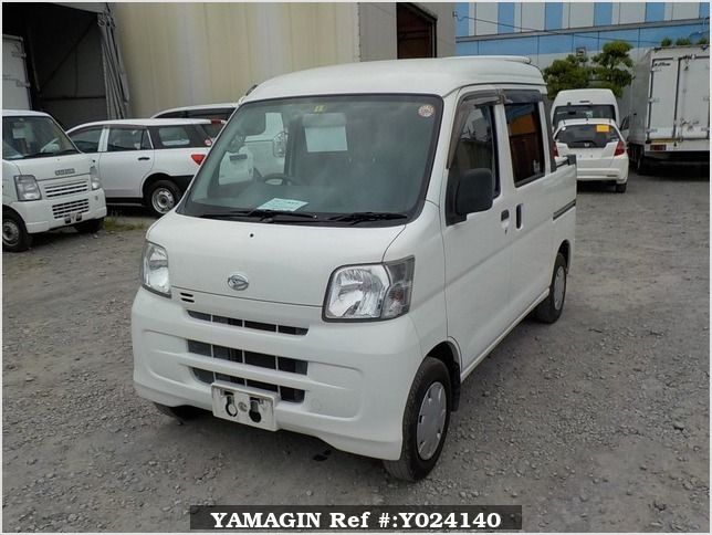 It is a picture of the white daihatsu hijet deck van in 2009,Sub Photo 1 Stock No.Y024140
