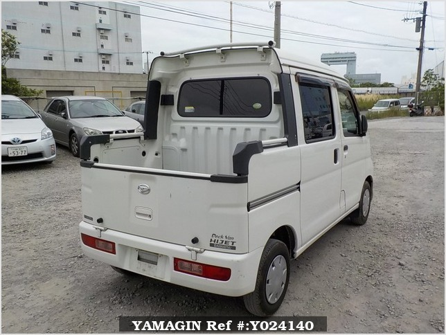 It is a picture of the white daihatsu hijet deck van in 2009,Sub Photo 3 Stock No.Y024140