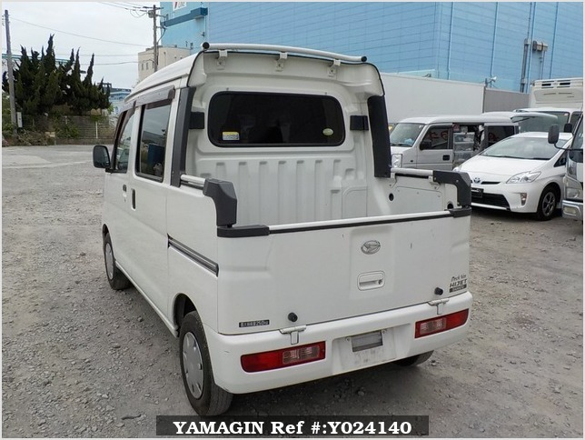It is a picture of the white daihatsu hijet deck van in 2009,Sub Photo 2 Stock No.Y024140