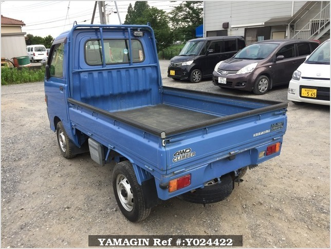 It is a picture of the blue daihatsu hijet truck in 1996,Sub Photo 3 Stock No.Y024422