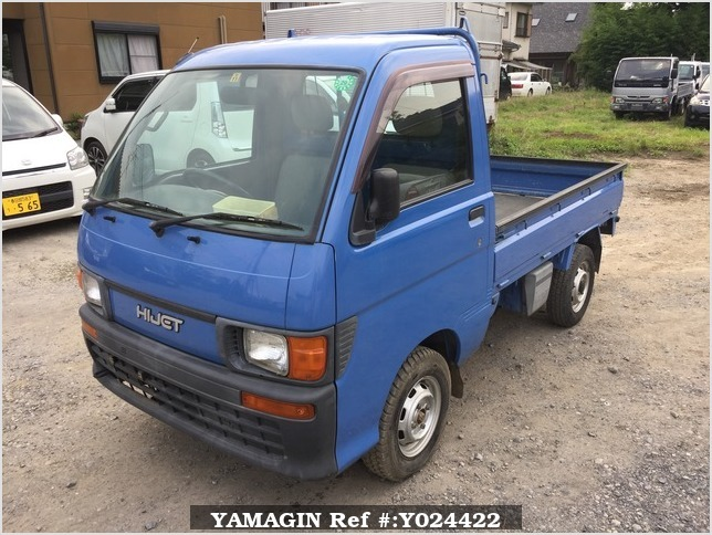 It is a picture of the blue daihatsu hijet truck in 1996,Sub Photo 1 Stock No.Y024422