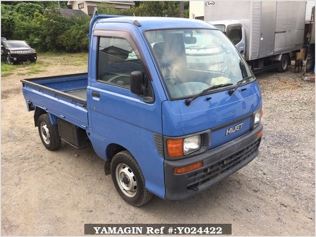 It is a picture of the blue daihatsu hijet truck in 1996,Sub Photo 0 Stock No.Y024422