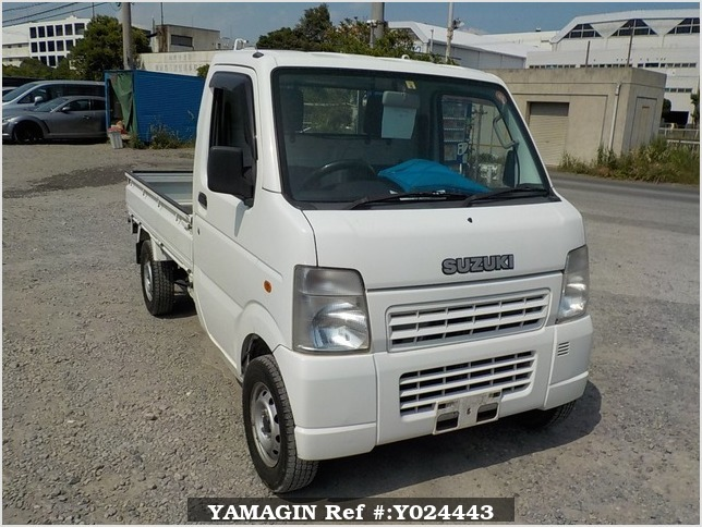 It is a picture of the white suzuki carry truck in 2009,Sub Photo 0 Stock No.Y024443