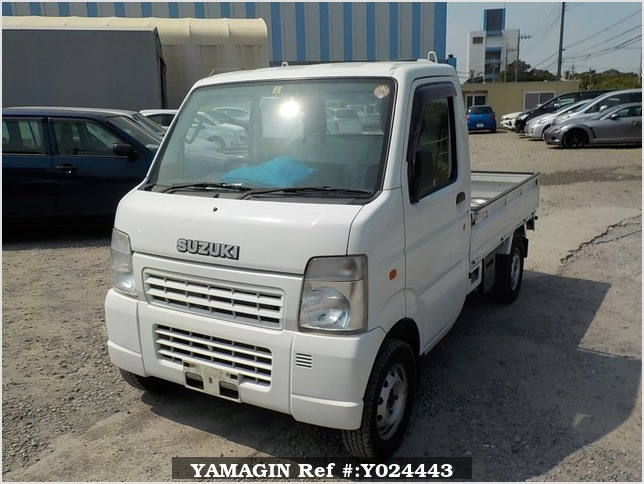 It is a picture of the white suzuki carry truck in 2009,Sub Photo 1 Stock No.Y024443