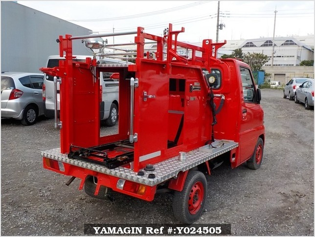 It is a picture of the red mitsubishi minicab truck fire truck in 2002,Sub Photo 2 Stock No.Y024505