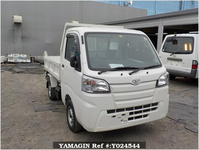 It is a picture of the white daihatsu hijet dump in 2019,Sub Photo 1 Stock No.Y024544