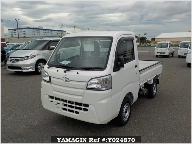 It is a picture of the white daihatsu hijet dump in 2019,Sub Photo 2 Stock No.Y024870
