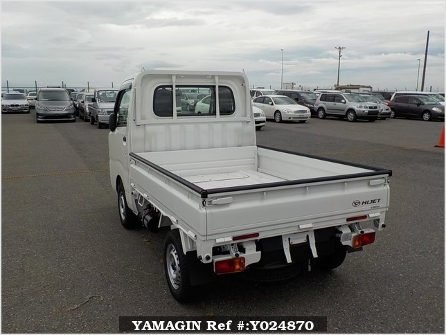 It is a picture of the white daihatsu hijet dump in 2019,Sub Photo 3 Stock No.Y024870