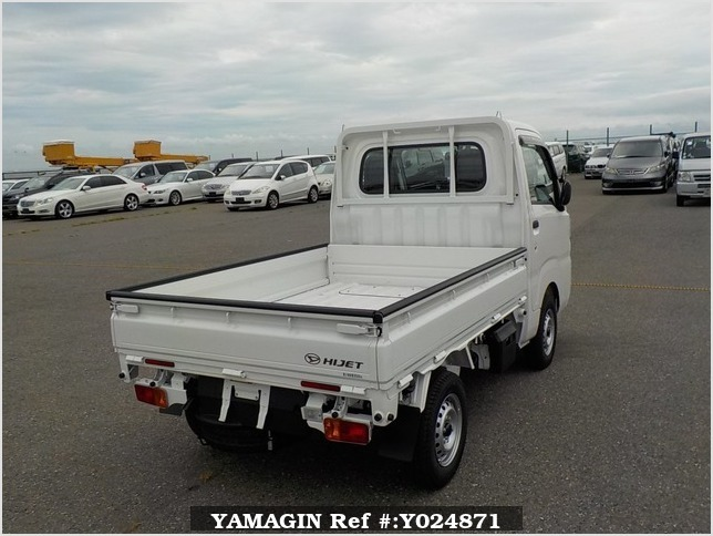 It is a picture of the white daihatsu hijet dump in 2019,Sub Photo 3 Stock No.Y024871