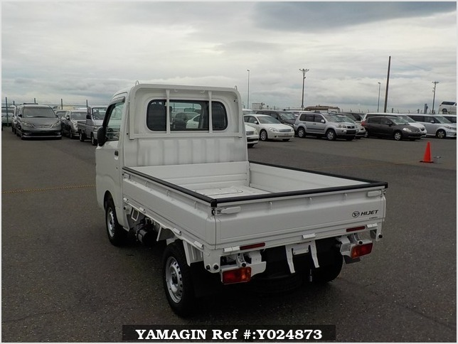 It is a picture of the white daihatsu hijet dump in 2019,Sub Photo 4 Stock No.Y024873