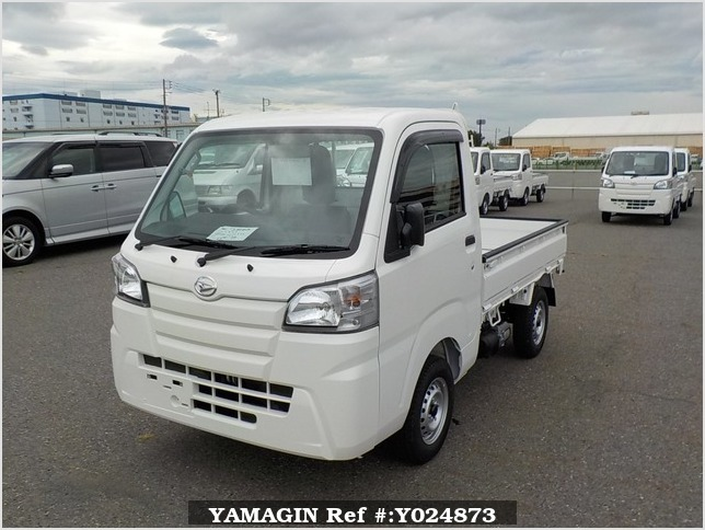 It is a picture of the white daihatsu hijet dump in 2019,Sub Photo 2 Stock No.Y024873