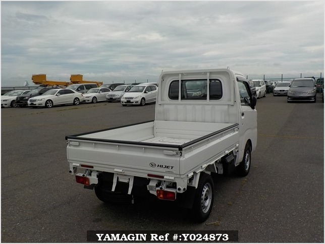 It is a picture of the white daihatsu hijet dump in 2019,Sub Photo 3 Stock No.Y024873