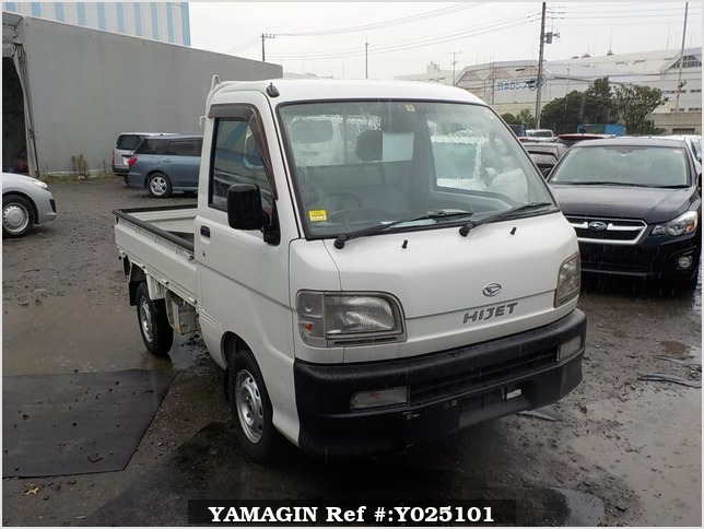 It is a picture of the white daihatsu hijet truck in 1999,Sub Photo 0 Stock No.Y025101
