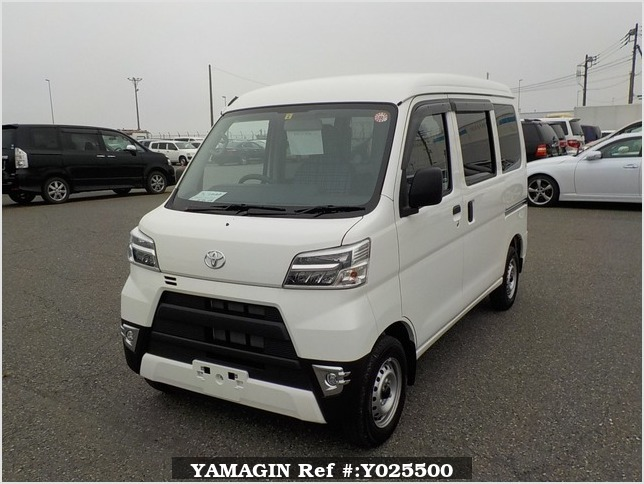 It is a picture of the white toyota pixis passenger van in 2019,Sub Photo 1 Stock No.Y025500