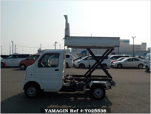 It is a picture of the white suzuki carry  scissors dump in 2008,Sub Photo 6 Stock No.Y025538