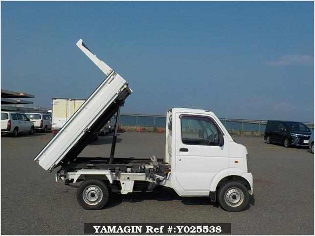 It is a picture of the white suzuki carry  scissors dump in 2008,Sub Photo 14 Stock No.Y025538
