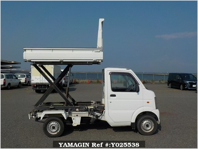 It is a picture of the white suzuki carry  scissors dump in 2008,Sub Photo 0 Stock No.Y025538