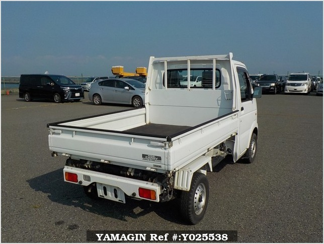 It is a picture of the white suzuki carry  scissors dump in 2008,Sub Photo 3 Stock No.Y025538