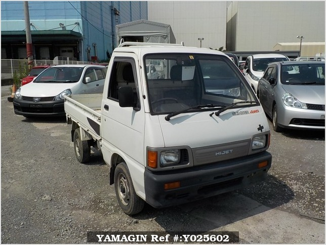 It is a picture of the white daihatsu hijet truck truck in 1993,Sub Photo 0 Stock No.Y025602