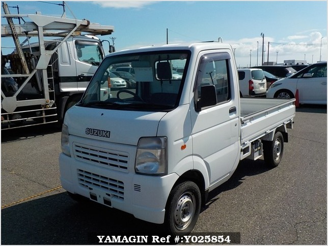 It is a picture of the white suzuki carry truck in 2005,Sub Photo 1 Stock No.Y025854