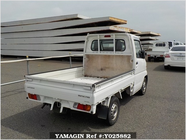 It is a picture of the white mitsubishi minicab truck in 1999,Sub Photo 2 Stock No.Y025882