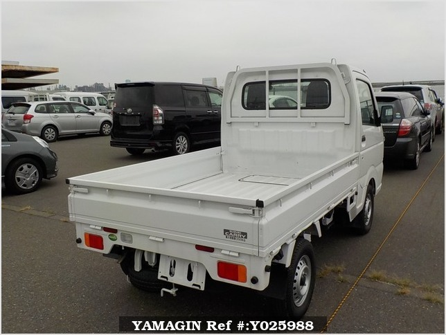It is a picture of the white suzuki carry truck in 2018,Sub Photo 3 Stock No.Y025988