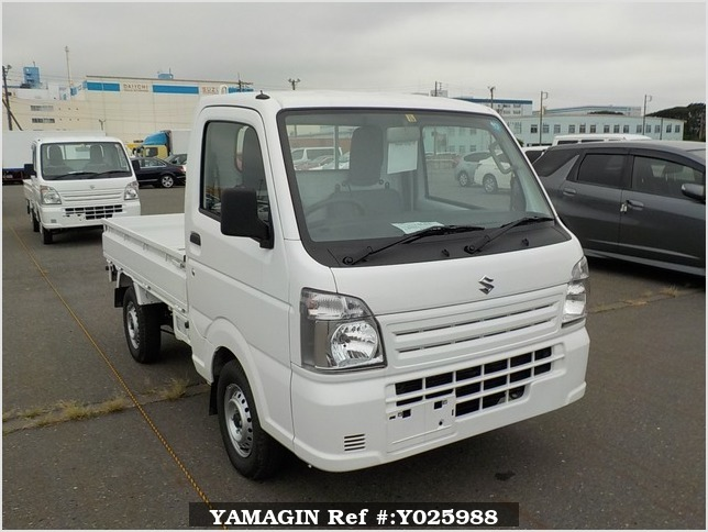 It is a picture of the white suzuki carry truck in 2018,Sub Photo 0 Stock No.Y025988