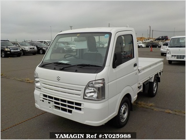 It is a picture of the white suzuki carry truck in 2018,Sub Photo 1 Stock No.Y025988