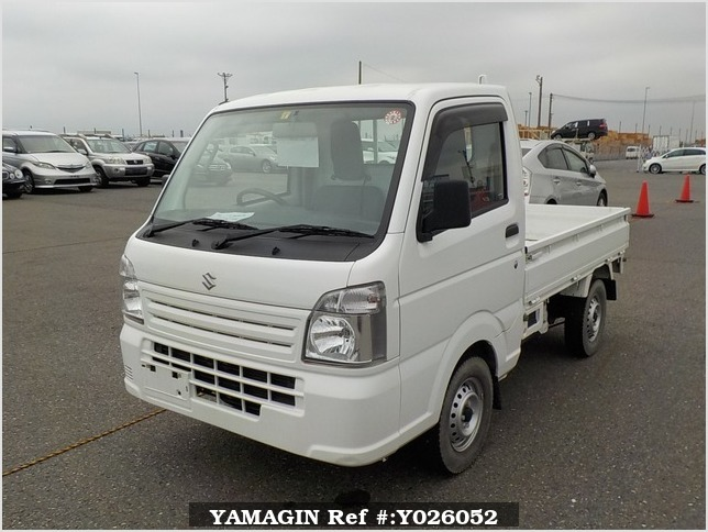 It is a picture of the white suzuki carry truck in 2017,Sub Photo 1 Stock No.Y026052