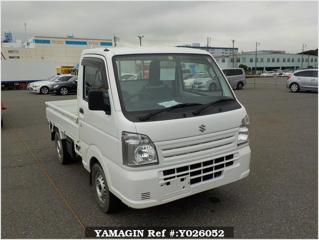 It is a picture of the white suzuki carry truck in 2017,Sub Photo 0 Stock No.Y026052