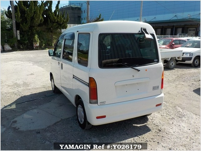 It is a picture of the white daihatsu hijet passenger van in 2003,Sub Photo 3 Stock No.Y026179