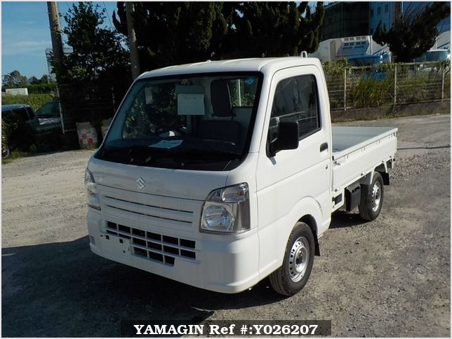 It is a picture of the white suzuki carry truck in 2018,Sub Photo 1 Stock No.Y026207