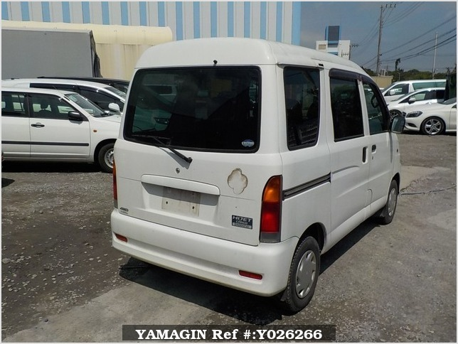 It is a picture of the white daihatsu hijet passenger van in 2003,Sub Photo 2 Stock No.Y026266