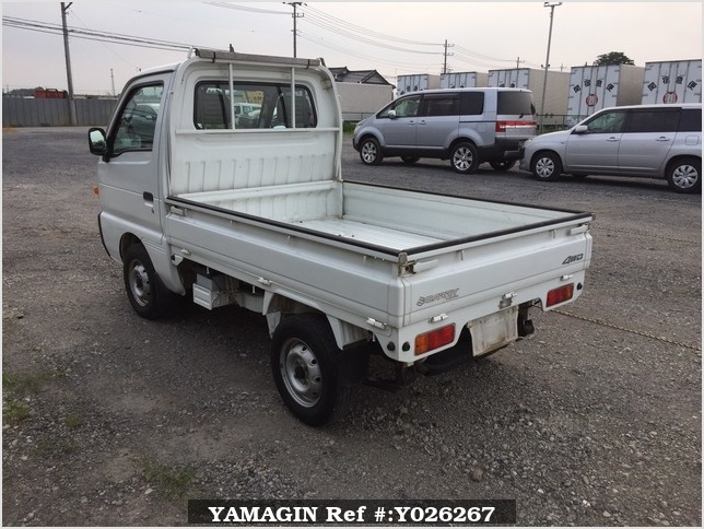 It is a picture of the white suzuki carry truck in 1995,Sub Photo 3 Stock No.Y026267