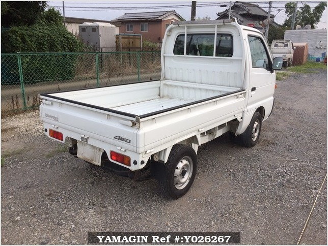 It is a picture of the white suzuki carry truck in 1995,Sub Photo 2 Stock No.Y026267