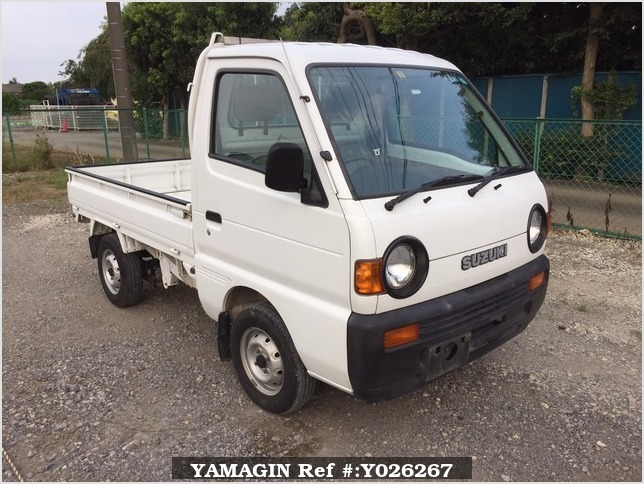 It is a picture of the white suzuki carry truck in 1995,Sub Photo 0 Stock No.Y026267