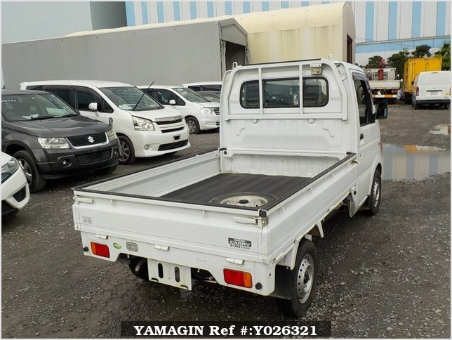 It is a picture of the white suzuki carry truck in 2009,Sub Photo 2 Stock No.Y026321