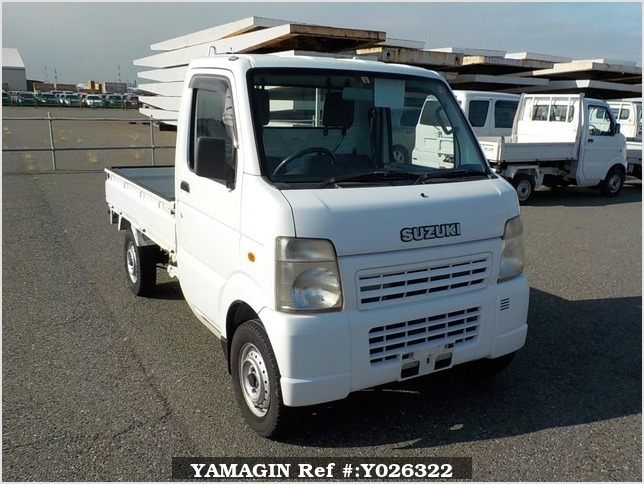 It is a picture of the white suzuki carry truck in 2007,Sub Photo 0 Stock No.Y026322