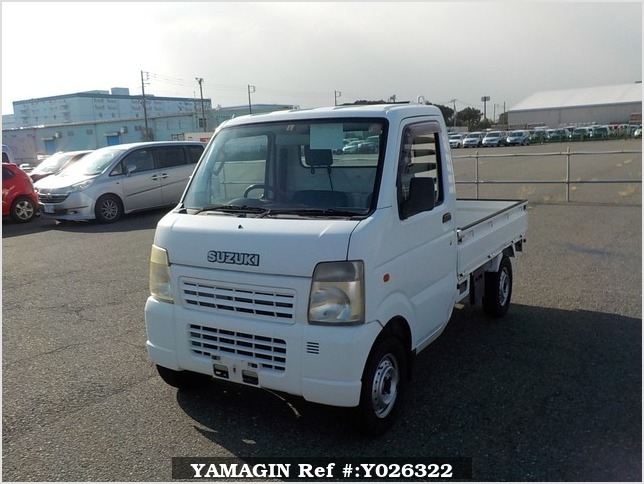 It is a picture of the white suzuki carry truck in 2007,Sub Photo 1 Stock No.Y026322