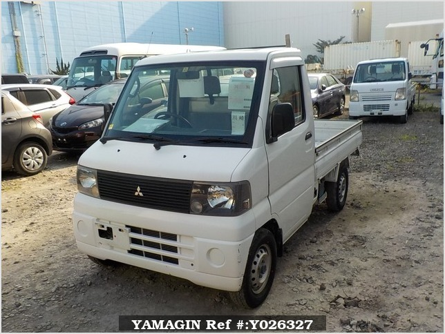 It is a picture of the white mitsubishi minicab truck in 2001,Sub Photo 1 Stock No.Y026327