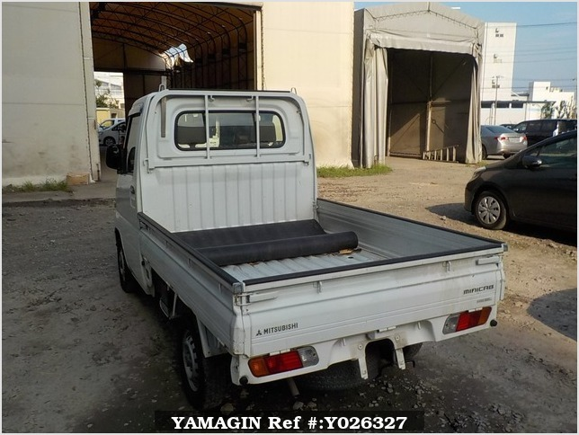 It is a picture of the white mitsubishi minicab truck in 2001,Sub Photo 3 Stock No.Y026327