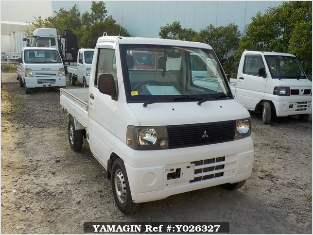 It is a picture of the white mitsubishi minicab truck in 2001,Sub Photo 0 Stock No.Y026327