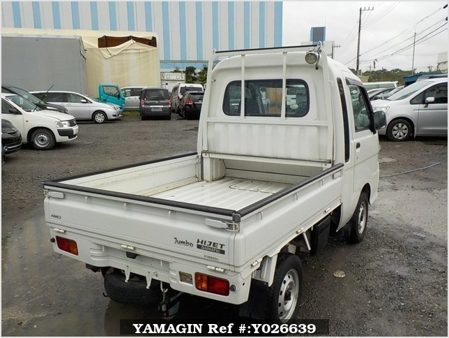 It is a picture of the white daihatsu hijet jumbo in 2008,Sub Photo 2 Stock No.Y026639